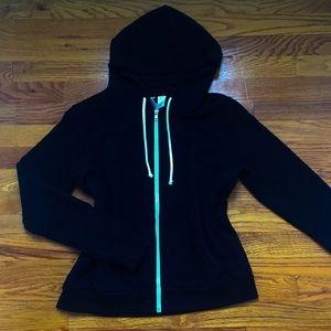 Casual black zip up hoodie